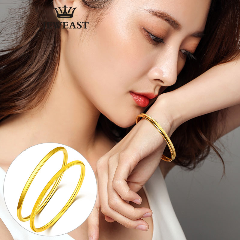 24K Pure Gold Bracelet Real 999 Solid Gold Bangle Woman Fine Bracelets Fashion Trendy Classic Party Jewelry Hot Sell New 2018 24k gold ring pure real pattern exquisite fine jewelry mini resizable design fashion female new hot sale 999 trendy party women