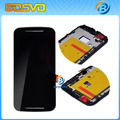 2 шт./лот Черный ЖК-Дисплей с Сенсорным экраном с дигитайзер + рамка рамка Для Motorola для Moto G2 XT1063 XT1064 XT1068 + инструменты