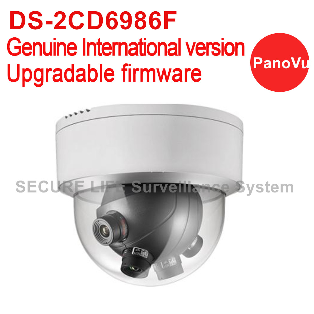 Hikvision DS-2CD6986F English version 7.3MP PanoVu Panoramic Ultra-low light IP CCTV dome Camera with 4*5mm lens 180 degree view hikvision ds 2df8223i ael english version 2mp ultra low light smart ptz camera ultra low illumination dark fighter