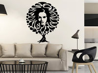 Wall Decal Tree Symbol The Image Of Women Vinyl Sticker Face Decals Decor