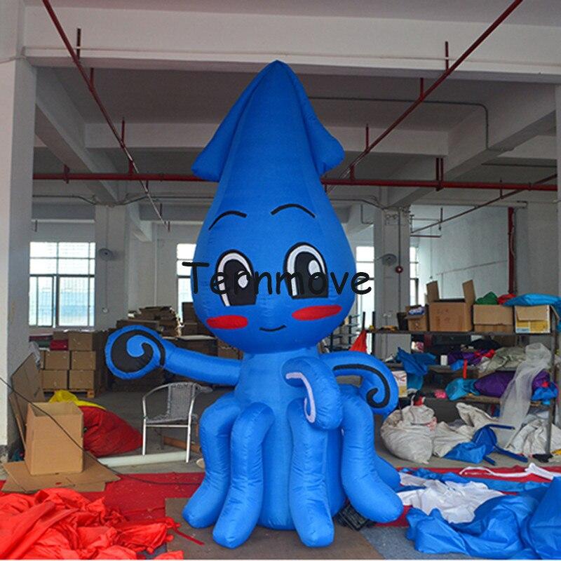 Pieuvre gonflable réplique pour la publicité géant gonflable poisson crabe écrevisse crevettes homard modèle extérieur océan thème mascotte