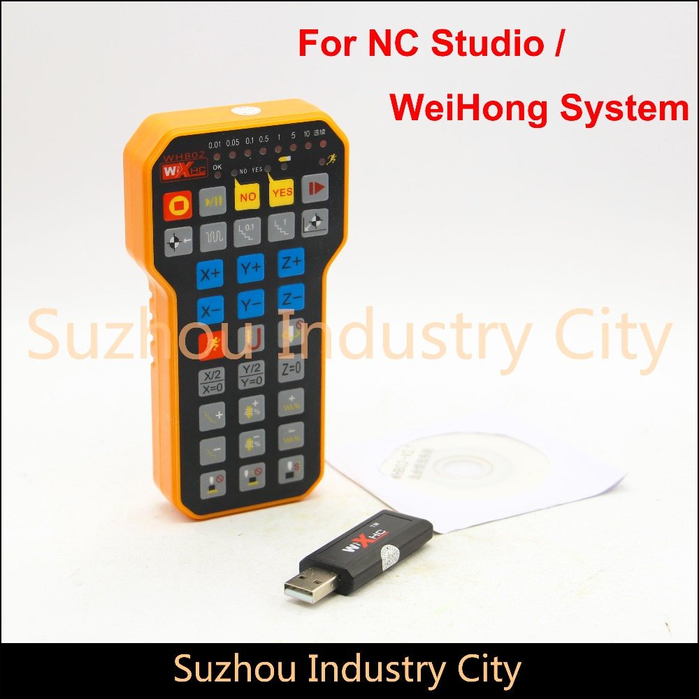 CNC Handwheel NC Studio USB Wireless Remote Handle 3 Axis CNC controller for CNC Router Engraving Machine weihong system weihong card woodworking lathe engraving plasma denture machine weihong cnc system integration nk105g2 for 3 axis