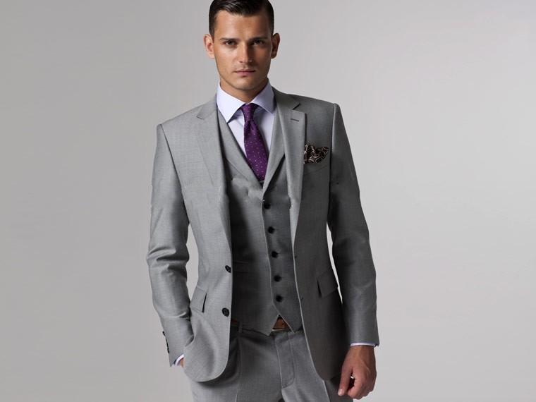 Mens Grey Slim Fit Suit Promotion-Shop for Promotional Mens Grey