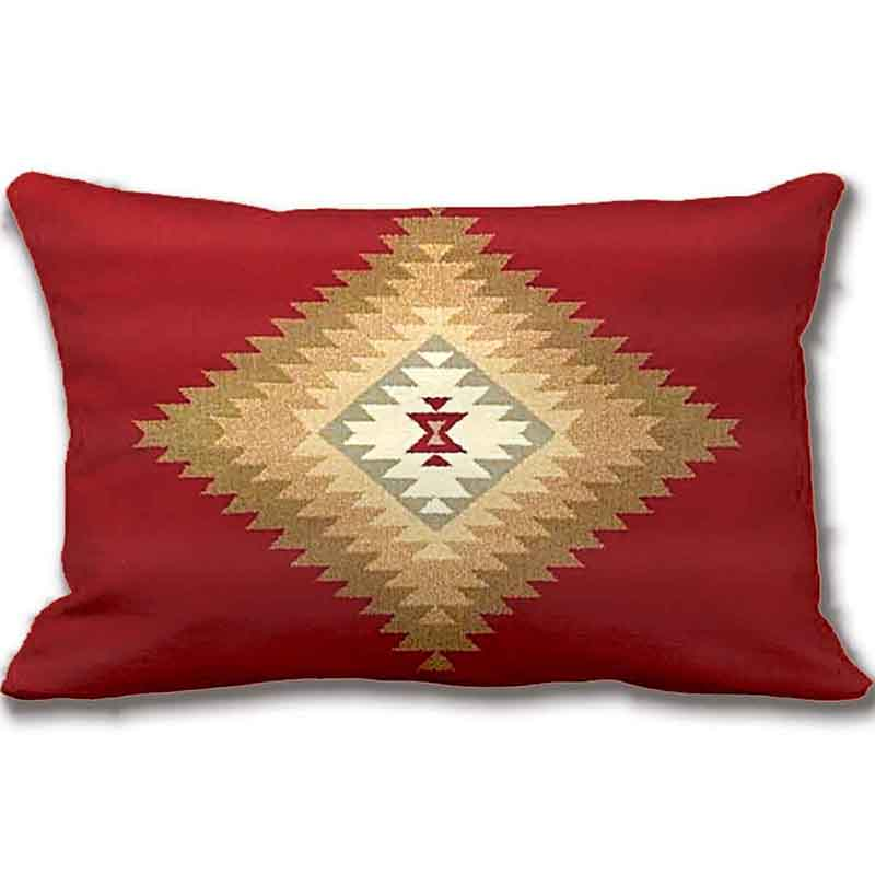 Southwest,Western Tribal Red Fabric Print Throw Pillow Case Decorative Cushion Cover Pillowcase Customize Gift By Lvsure For Car