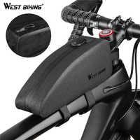 West biking à prova dlightweight água ciclismo topo frente tubo saco leve mtb estrada quadro da bicicleta saco fino caso pannier acessórios da bicicleta