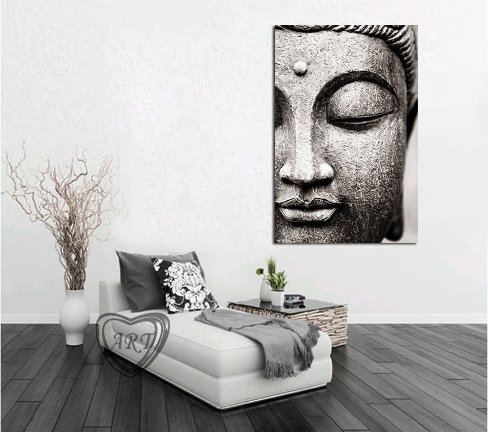 1 Pieces Buddha Statue Canvas Painting Religious Wall Art Picture For Living Room Bedroom Decoration Posters And Prints No Frame