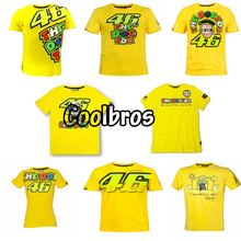 2016 Valentino Rossi VR46 46 The Doctor T-shirt Moto GP Sport Sky Racing Team Life Style T Shirt Yellow