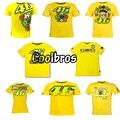 2016 valentino rossi vr46 46 o médico t-shirt céu esporte de moto gp racing team vida estilo t camisa amarela