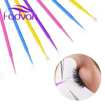 100/bag Disposable Makeup Brush Eyelash Swab Durable Micro Fadvan Brush Eyelash Extension Individual Lash Removing Tools