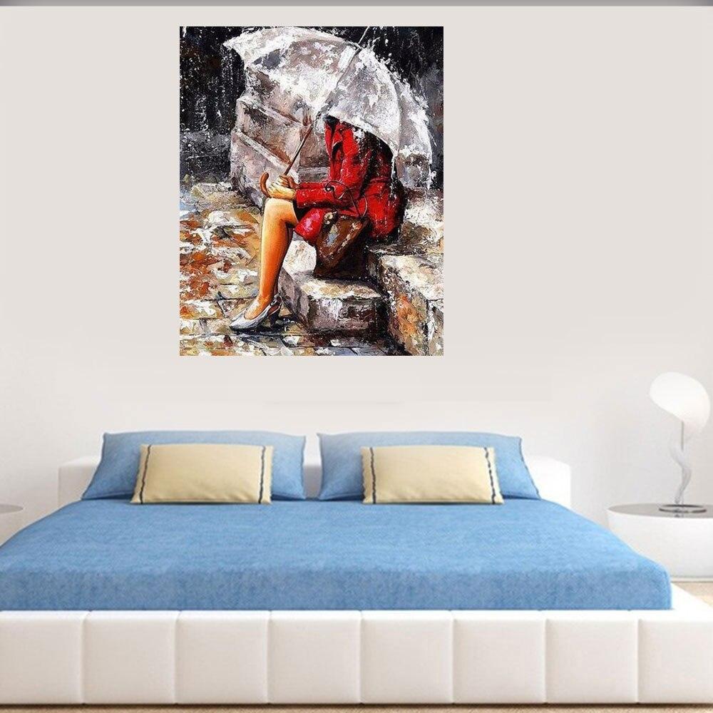 Рамка цифровая diy масляная краска ing по номерам umbrella wall