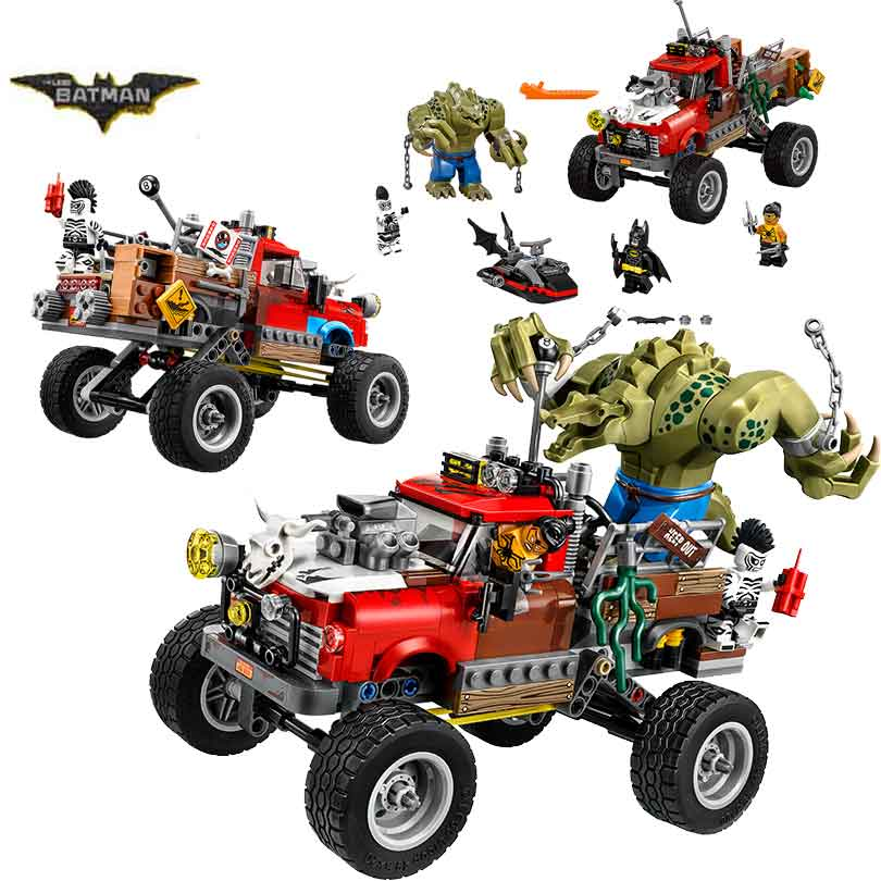 цена на 07051 Batman Movie Killer Croc Tail-Gator Man-Bat Bricks Building Block Toys Gift For Children Batman 70907