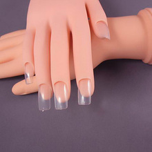 New False Hand Model Nail Art Practice Flexible Movable Soft Fake Hands for Nails Art Training Display Model manicure tool