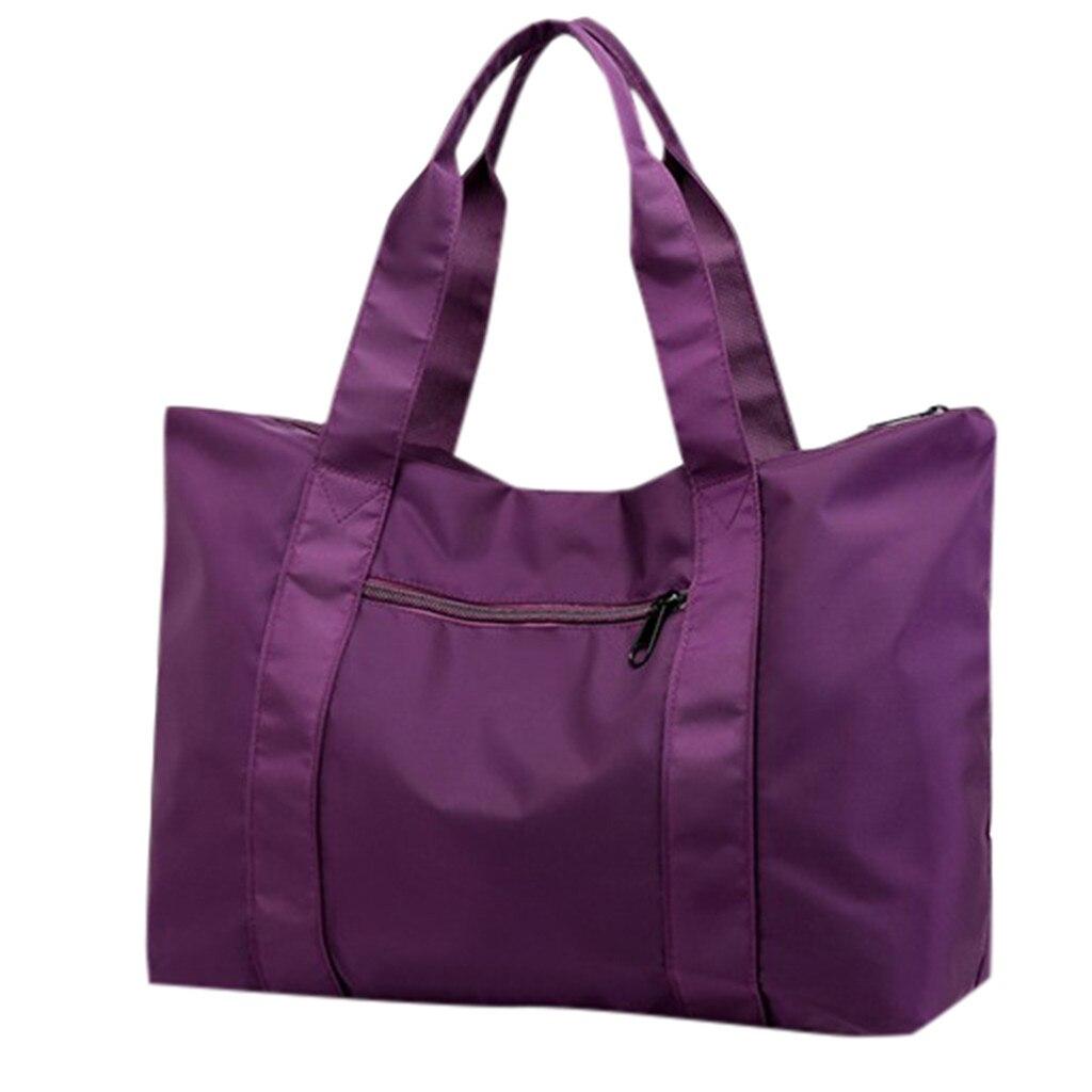 Unisex Large-Capacity Outdoor Travel Bag Zipper Messenger Bag Lightweight Folding Yoga  Bag Fashion Nylon Main Material May 31