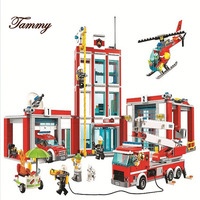 City Series The Fire Station Model Building Block Brick Toy 10831 958pcs For Children birthday Gift