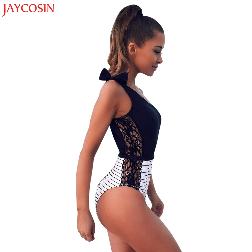 Bra & Brief Sets Underwear & Sleepwears Jaycosin Women Bras Suit Lace-up Hollow Lace Jumpsuit Push-up Padded Bra Beach Underwear Set One Piece Sexy Underwear Set Z0129.