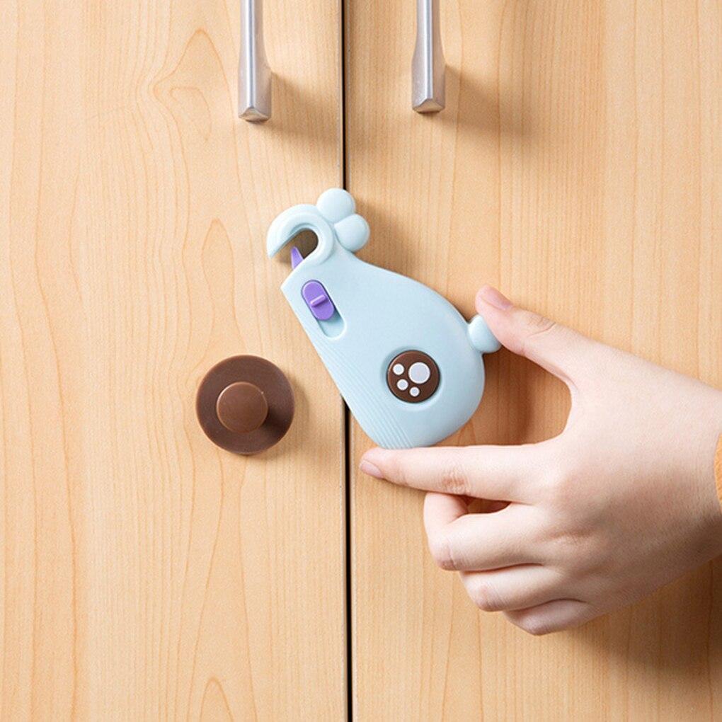 Child Lock Baby Clip Cartoon Shape Security Protection Doors Drawer Wardrobe Supplies