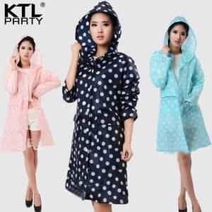 10331accd1e KTLPARTY Womens raincoats waterproof poncho rain rainwear