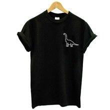 T Shirt dinosaur pocket Print Women tshirt Casual Hipster Funny t shirt For Lady