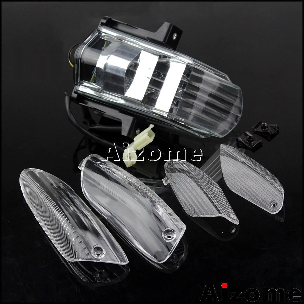 Motorcycle LED Tail Light Taillight For APRILIA RSVR RSV1000R RSV 1000R Stop Rear Lamp Brake Tail Lights + 4 Turn Lens