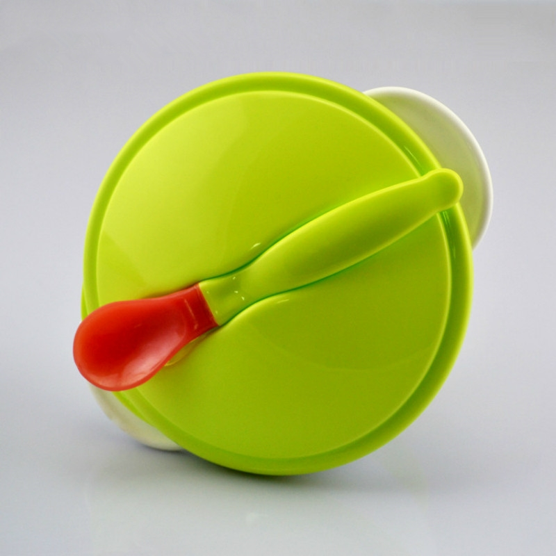 2 Pcs Solid Feeding Baby Tableware Kids Bowl Plate with A Spoon Children Dinnerware Set for Baby Food Feeding Dishes baby bowl spoon fork feeding food tableware cartoon panda kids dishes baby eating dinnerware set anti hot training bowl spoon