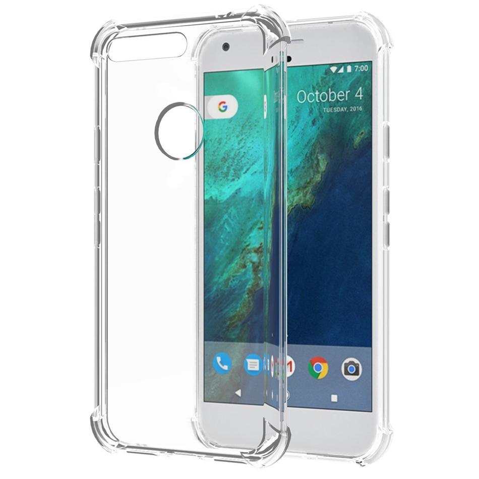 For Google Pixel 1 2 3 XL Lite Air Cushion Case Clear Crystal Soft Silicone Silicon TPU Shockproof Full Protection Phone Cover 3
