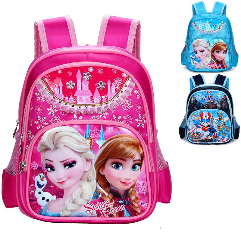 Children Cartoon School Bag Lovely Snow White Princess Backpack Bookbag Mochila Feminina Ice Princess School Bags For Girls Kids