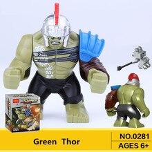 Single Sale Mini Hulk Action Figure Dolls Marvel Super Heroes Newest Thor Movie Legoingly Building Blocks Toys For Children Gift