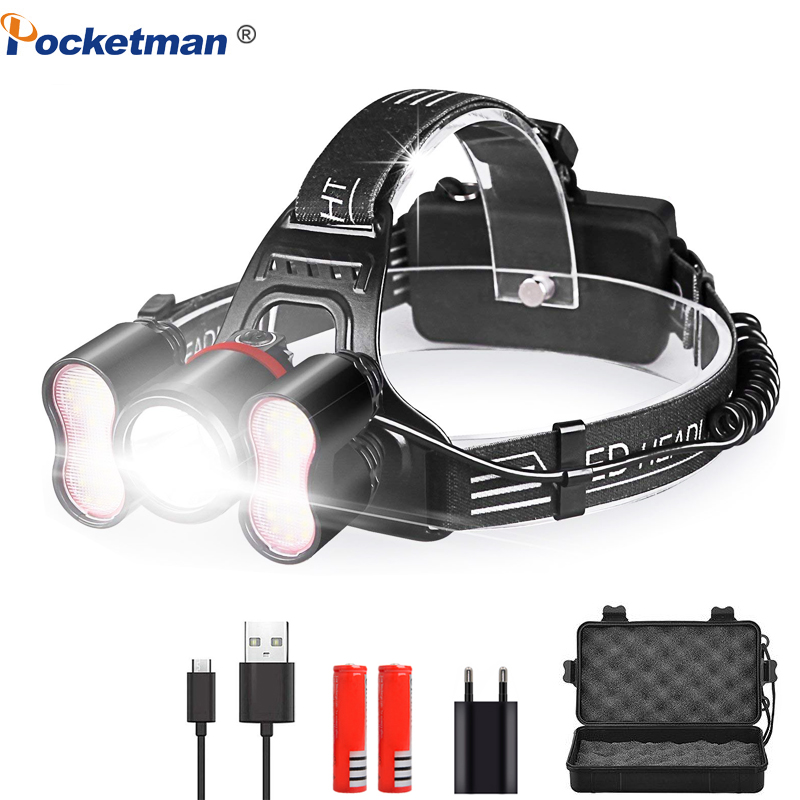 20000LM LED Headlamp Head light 18650 Rechargeable Waterproof head lamp for Cycling, Running, Camping, Hiking, Fishing DIY Works20000LM LED Headlamp Head light 18650 Rechargeable Waterproof head lamp for Cycling, Running, Camping, Hiking, Fishing DIY Works