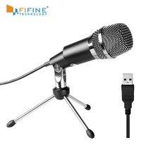 Fifine Plug & Play Home Studio USB конденсаторный микрофон для Skype, записи для YouTube, Google голосовой поиск, игры (K668)