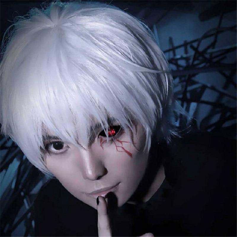 Sunshine Tokyo Ghoul Ken Kaneki Short White Black 30cm 12 Cosplay