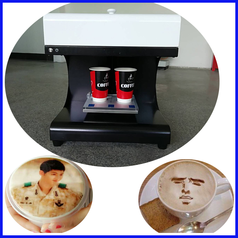 Commercial 16s/cup 2 cups Coffee Printer & 3D coffee printer machine