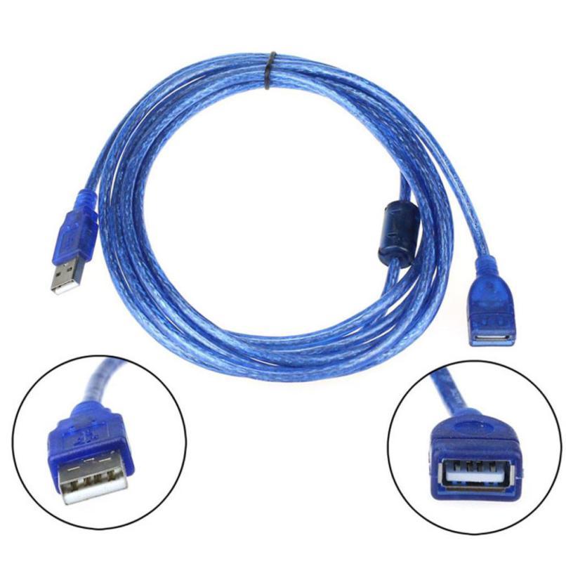 2 м USB 2.0 кабель передачи данных Мужской м до Женский кабели Синий для кабель-удлинитель July03