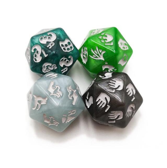 4 pçs/set Dados Poliédricos Definida para Dungeons And Dragon D20 e Coleção de Jogos de Tabuleiro