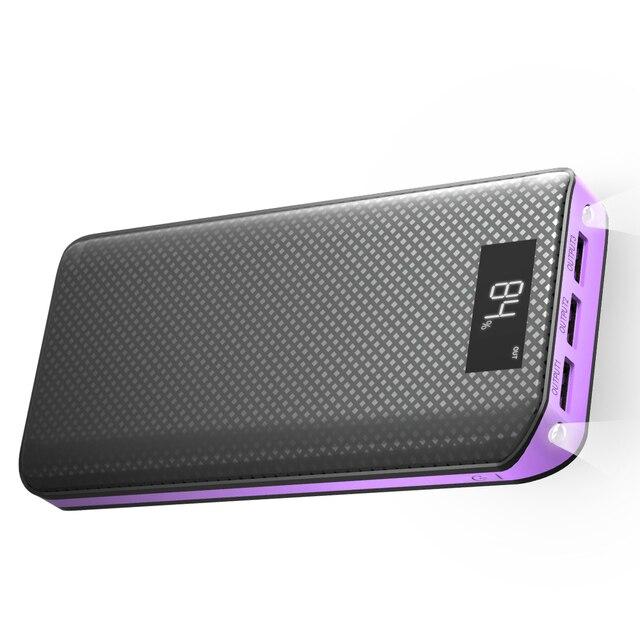 Ngân Hàng điện 20000 mAh Powerbank 3 USB Bên Ngoài Pin Pack cho iPhone 6 6 s 7 8 10 iPad Samsung xioami Huawei Sony LG HTC Nokia.