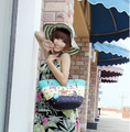 Оптовая продажа 2016 лето новое поступление звездное соломы женщины сумочку леди пляжная сумка звезды шаблон женщин сумки