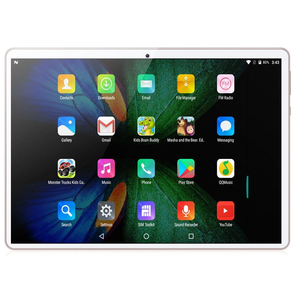 10.1 pouces tablette Android 8.0 4G/3G appel téléphonique octa-core 4GB Ram 64GB Rom intégré 3G Bluetooth Wi-Fi tablette PC + clavier - 3