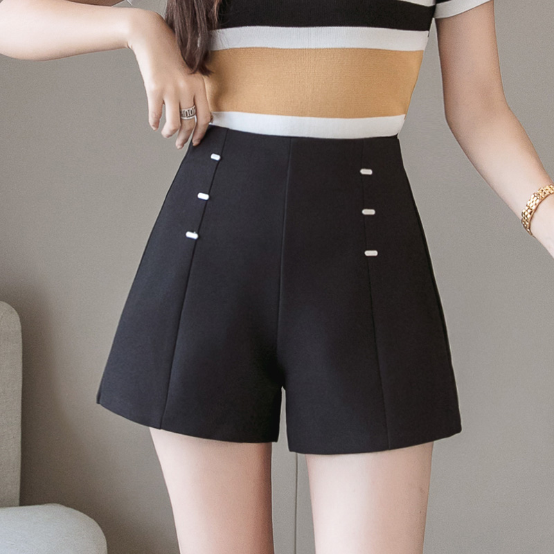 Summer   Shorts   For Women 2019 High Waist Casual Wide Leg   Shorts   Loose OL work Wear Solid   Shorts