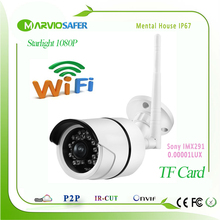 2MP 1080P Starlight CCTV Wi-fi Network IP Camera Wireless Onvif Sony IMX291 Sensor Colorful Night Vision TF Card Slot Wifi IPCam