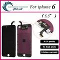 Calidad aaa sin píxeles muertos para iphone 6 plus pantalla lcd táctil 5.5 reemplazo digitalizador asamblea negro o blanco