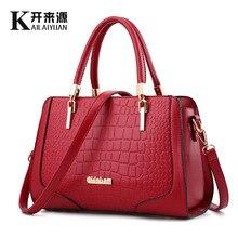 PU leather bag ladies 2016 crocodile pattern Women messenger bags handbags women famous brand designer high quality women bag