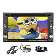 "Wireless camera Wince 2din Car DVD player 6.2"" GPS Navigation Car Stereo in dash Bluetooth navigator remote control DVD/CD"