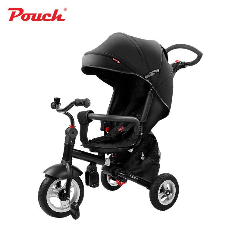 Pochette bébé trois roues poussette enfants vélo lumière pliante et pratique landau enfants couverture de pluie de haute qualité pour les enfants