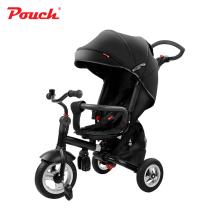 Pouch baby three wheels stroller  children bicycle light folding and practical pram kids rain cover high quality for