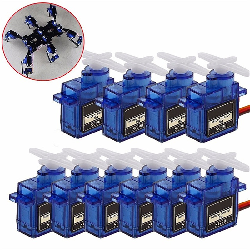 5pcs/10pcslot New 9G Micro / Mini Servos + Horns For Rc Helicoper Airplane Better Than Servo SG90 For RC 250 450 Helicopter Car