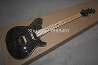 Free Shipping HOT Wholesale High Quality CUSTOM Guitar Ernie Ball Music Man Signature Black Tiger Burst