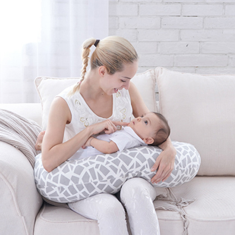 Moon Shape Pillow Baby Multifunction Nursing Pillow Adjust Infant Breastfeeding Pillow Baby Protect Mummy Waist Support Cushion waist support baby nursing breastfeeding pillow soft baby learning sit pillow multi function baby pillows almofada infantil