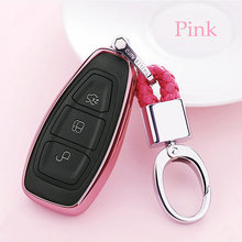 Soft TPU Car Key Case Auto Protection Cover For Ford Focus Kuga Mondeo Holder Shell Colorful Car-Styling Accessories