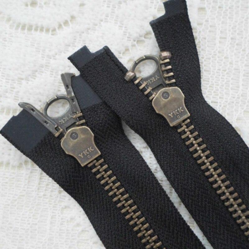 ad58b639e17f 3 pcs lot HEAVY DUTY YKK Zipper 2 WAY DOUBLE CURSEUR VINTAGE OUVERT FIN POUR  PARDESSUS VESTE VÊTEMENT à coudre ACCESSOIRES