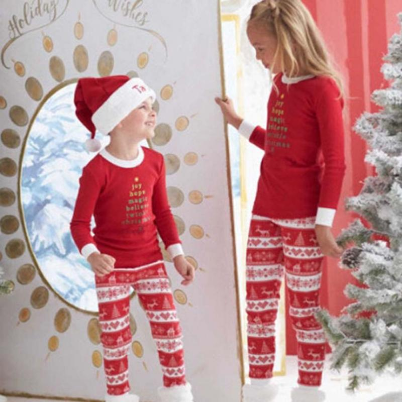 Christmas Elk Family With Children Sleepwear Nightwear Pajamas Set Pyjamas Family Package Girls Boys Deer Sleep Clothing Kid Set мультиварка oursson mp5015psd ga