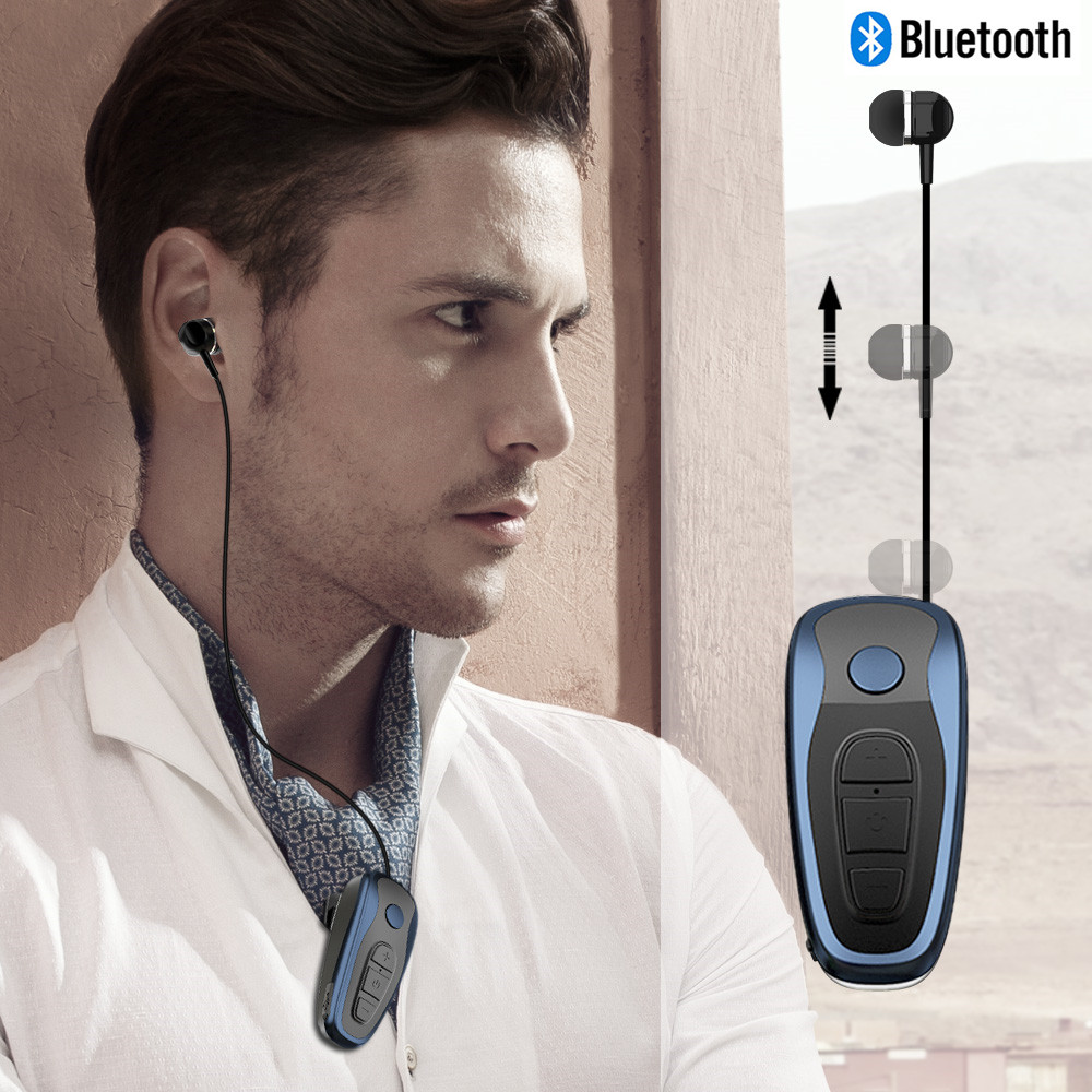 Nasin Q7 In-ear clip retractable motion call vibration stereo wireless Bluetooth earphone for xiaomi samsung huawei iphone